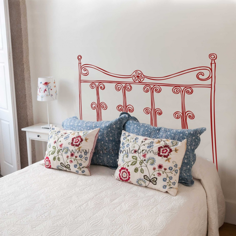 Cabecero real vinilos decorativos para habitaciones for Vinilo cabecero cama