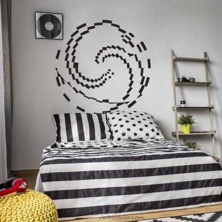 MANDALA ESPIRAL FIBONACCI, vinilos decorativos  para paredes de Ubika vinilo