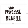 PRINCESSE REBELLE, sticker décoratif d'Ubika Vinilo
