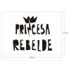 PRINCESA REBEL, vinil decoratiu d'Ubika Vinilo