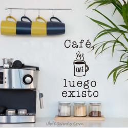 CAFÉ LUEGO EXISTO