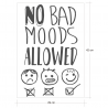 NO BAD MOODS ALLOWED, sticker décoratif d'Ubika Vinilo