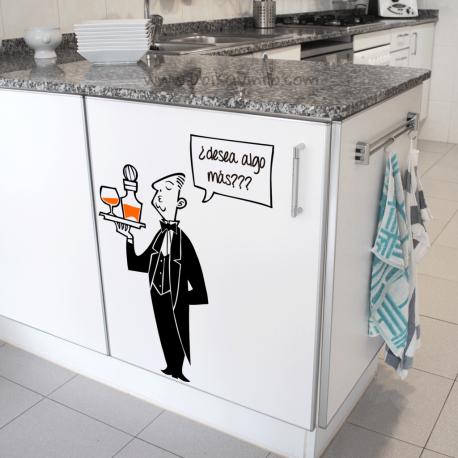 MAYORDOMO, vinilo decorativo para cocina, Ubika vinilo