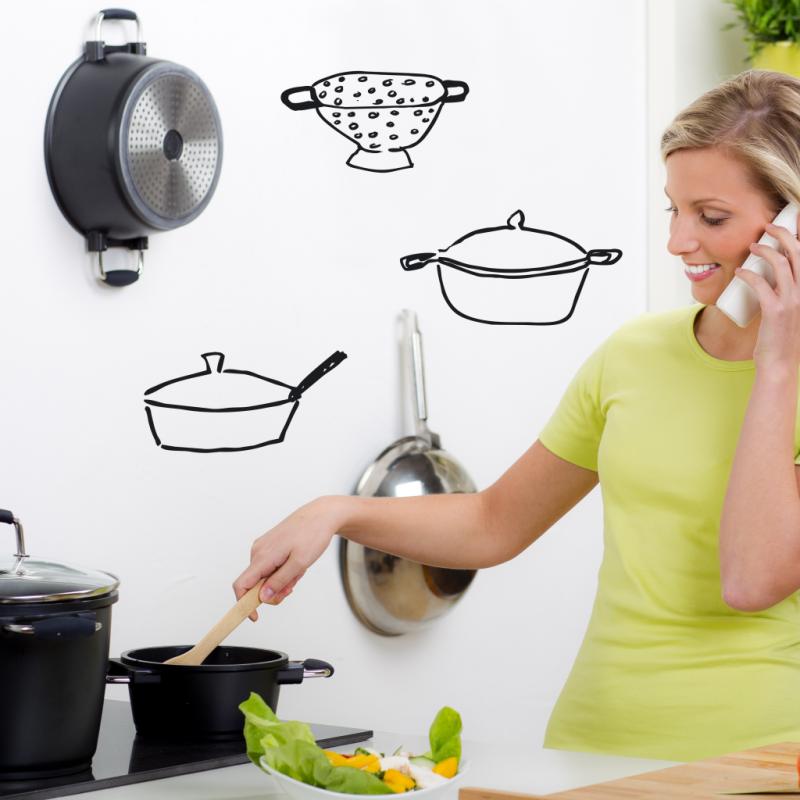 Cacharros cocina vinilos decorativos para cocinas ubika for Cacharros de cocina