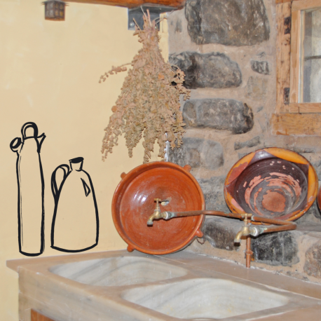 BOTIJO Y JARRA, vinilo decorativo para la cocina, Ubika vinilo