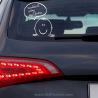CUIDADO ESTOY AQUÍ DENTRO, vinilo decorativo para el cristal del coche de Ubika vinilo