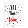 ALL YOU NEED IS LOVE, vinilo decorativo texto de amor de Ubika vinilo.